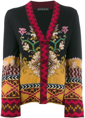 Etro slim-fit patterned cardigan