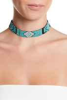 Stephan & Co Multicolor Patterned Seed Bead Choker