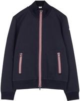Moncler Navy Grosgrain-trimmed Sweatshirt