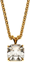 FANTASIA 14K Yellow Gold-Plated Necklace & Cubic Zirconia Pendant