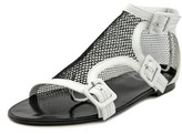 Roger Vivier Sandalo Rete T.o5 Open Toe Canvas Gladiator Sandal.
