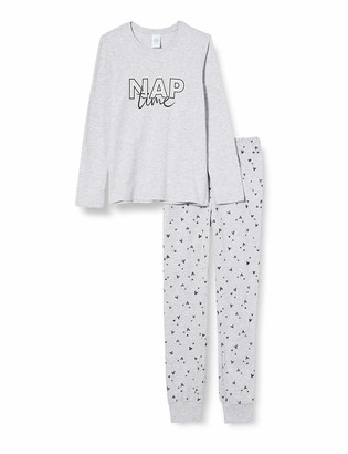 Sanetta Girl's Schlafanzug Hellgrau Melange Pajama Set