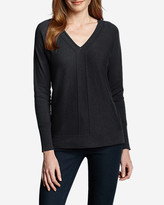 Eddie Bauer Women's Christine V-Neck Pullover Sweater - Solid