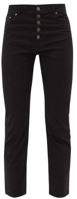 Joseph Den Cotton Blend Straight Leg Jeans - Womens - Black