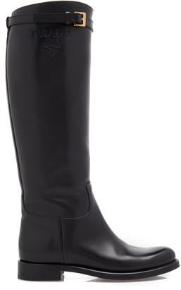Prada Leather Knee High Boots