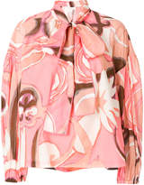 Marc Jacobs tie neck printed blouse