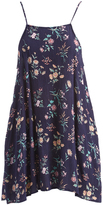 Mimichica Navy Floral Strappy-Back Sidetail Dress