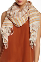 Michael Stars Pin Striped and Bright Scarf
