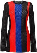 Proenza Schouler striped mesh jumper - women - Viscose/Polyester - XS