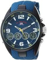 U.S. Polo Assn. Men's Quartz Metal and Rubber Casual Watch, Color:Blue (Model: US9598)