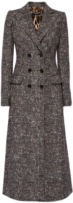 Dolce & Gabbana Tartan Wool Blend Double Breast Coat
