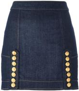 DSQUARED2 Livery denim mini skirt - women - Cotton/Spandex/Elastane - 38