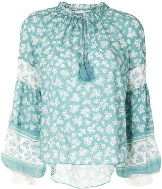 Veronica Beard Floral Long-Sleeve Blouse