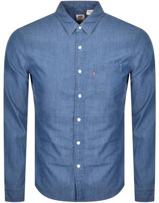 Levi's Levis Sunset 1 Pocket Long Sleeved Shirt Blue