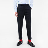 Paul Smith Men's Navy 'A Suit To Travel In' Tapered Wool Trousers