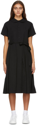 Comme des Garcons Black Wool Collared Dress