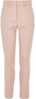 River Island Boys pink slim fit suit trousers