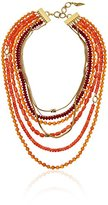 Diane von Furstenberg Caribbean Coral Mixed-Bead Layered Necklace