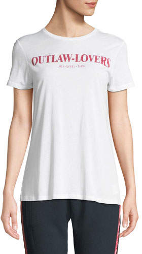 Zoe Karssen Outlaw-Lovers Graphic Short-Sleeve Tee