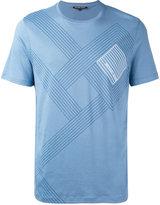 MICHAEL Michael Kors logo print striped T-shirt - men - Cotton - M