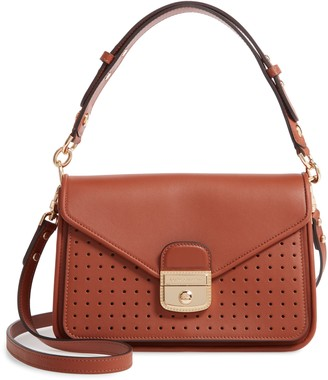 Longchamp Mademoiselle Calfskin Leather Crossbody Bag