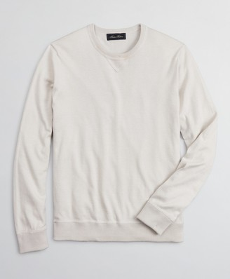Brooks Brothers Golden Fleece 3-D Knit Cotton-Cashmere-Silk Crewneck Sweater