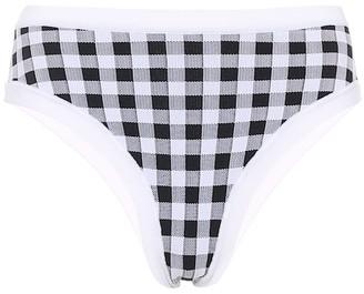 Exclusive to Mytheresa La Plage gingham bikini bottoms