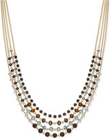 INC International Concepts Gold-Tone 4-Row Beaded Necklace, Only at Macy's