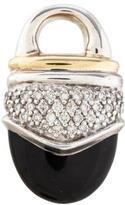 David Yurman Diamond & Onyx Pendant