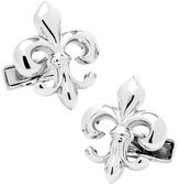 Ravi Ratan Men's Sterling Fleur di Lis Cufflinks