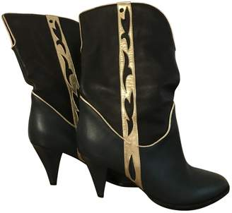 Just Cavalli Green Leather Boots