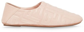 Fendi quilted FF slippers