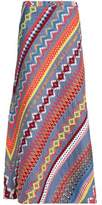 Tory Burch Embroidered Cotton Maxi Skirt