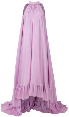 Azeeza Plath Raw Silk Gown
