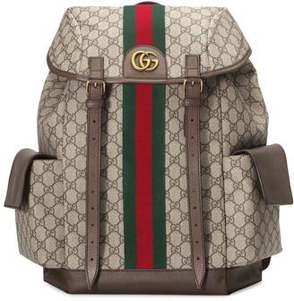 Gucci Monogram Pattern Backpack
