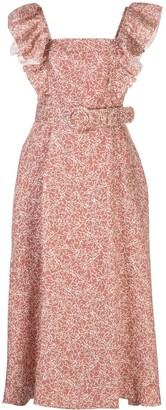 Nicholas Thyme-print belted dress