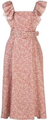 Nicholas Thyme-print belted dress