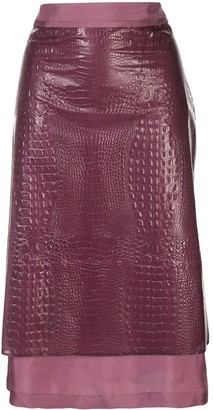 Sies Marjan Crocodile Embossed Skirt