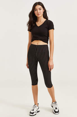Ardene Basic Striped Cropped Leggings