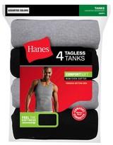 Hanes Men's Tank 4pk Black/Grey