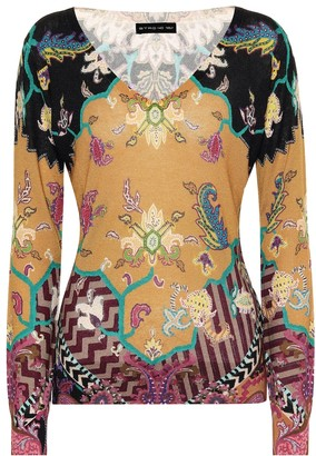 Etro Printed silk and cashmere top