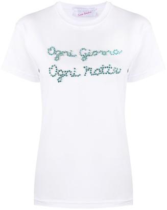 Giada Benincasa slogan print short-sleeved T-shirt