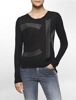 Calvin Klein Logo Sparkle Sweater