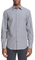 Armani Collezioni Trim Fit Long Sleeve Gingham Sport Shirt