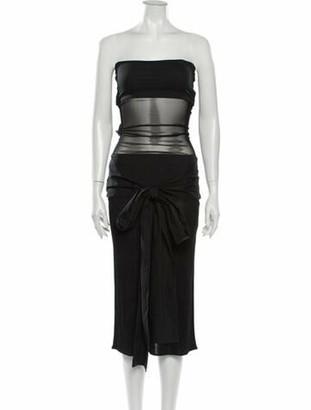 Jean Paul Gaultier Strapless Midi Length Dress Black