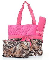 Handbags Quilted uflage Diaper Bag Baby Changing Pad Cosmetic Bag Pink