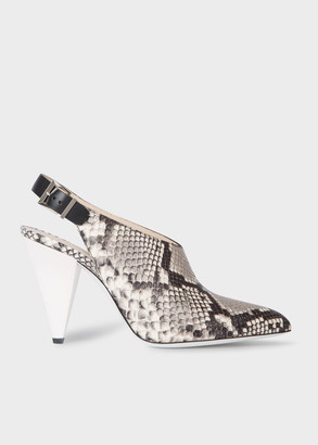 Paul Smith Women's Snake-Effect Leather 'Debbie' Shoes