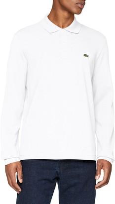 Lacoste mens Classic Long Sleeve Pique Polo Shirt