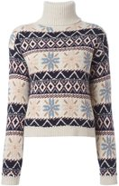 Roberto Collina patterned roll neck sweater