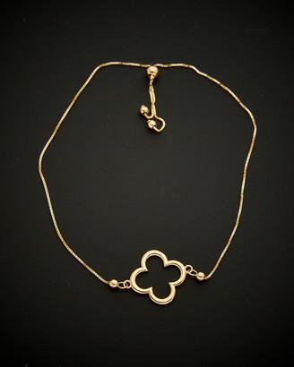 Italian Gold 14K Bolo Adjustable Bracelet